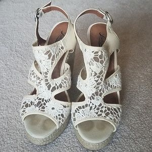 Lucky Brand Lace Wedges